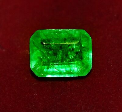 GGL Certified Natural Green Emerald, 7.00 Cts Emerald Shape Zambian Gem
