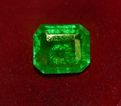 Natural Green Emerald, GGL Certified 13.00 Cts  Emerald Shape Zambian Gem
