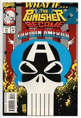 What If #51 The Punisher Became Captain America Marvel Comics (1993) See Scans!