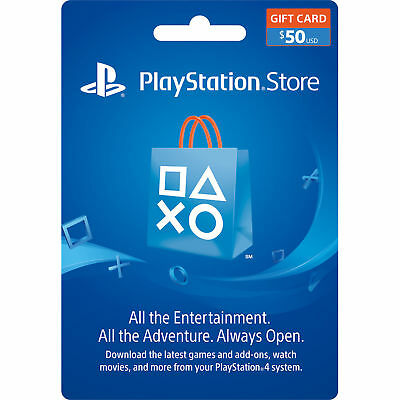 $50 US PlayStation Store PSN Gift Card -EMAIL DELIVERY- PS3 PS4 PS Vita PSP Live