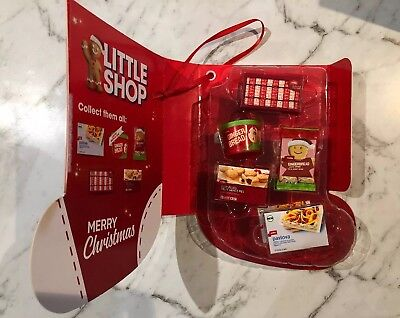 Coles Little Shop Christmas Edition Collector's Case Mini Collectable COMPLETE