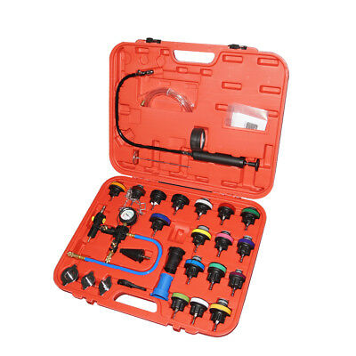 28 PCS Radiator Pressure Tester Vacuum-Type Cooling System Refill Kit W/Case New