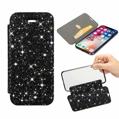 Crystal Glitter Wallet Cover Case For Samsung S7 S8 S8+ S9 S9+ NOTE iPhone