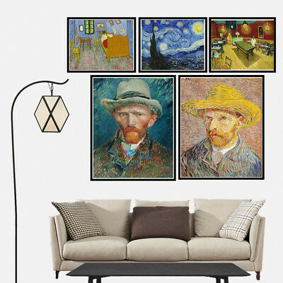 Van Gogh Self Portrait Canvas Poster Home Decor Oil Painting Print Picture Art