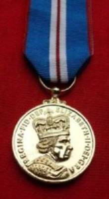 Medals - Queen's Golden Jubilee Medal And Ribbon - Full Size.