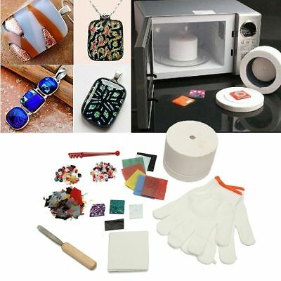 10Pcs Set Fusing Supplies Glass Kit Microwave Tool DIY Kiln Stained Hot