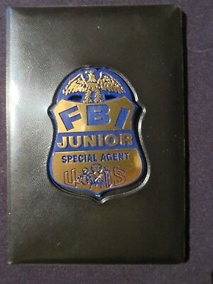 Fbi Junior Special Agent Credentials With Badge Great For Kids Rare Collectible