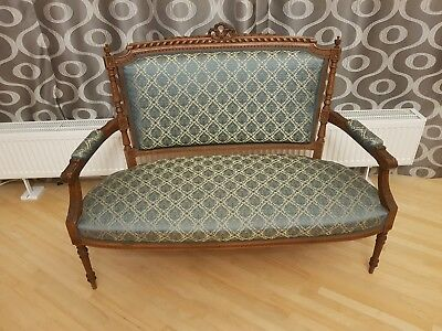 Antique french style settee sofa craved wood