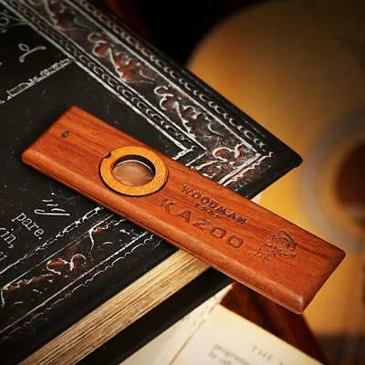 Wooden Kazoo with Metal Box for Music Player Kids Toy Gift RU