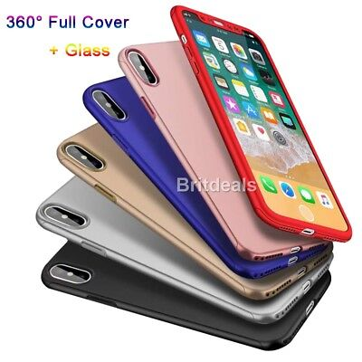 Case for iPhone XS iPhone X Cover 360 Shockproof Hybrid Glass Protector