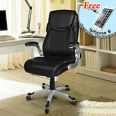 Office Executive Chair Desk Swivel Racing Chair PU Leather High Back Computer