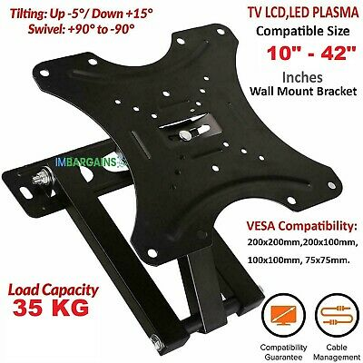TV Wall Mount Bracket Tilt For 32 37 42 45 50 55 60 65 70 Inch 3D LED LCD Plasma