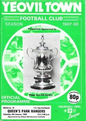 Yeovil Town V Queens Park Rangers 87/88 -- Fa Cup 3.