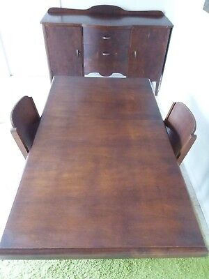 Dining Room Table and Sideboard Vintage 1940's