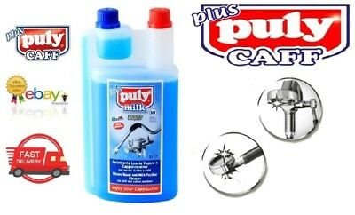 Puly Caff Milk Frother Liquid Steam Cleaner Descaler 1 Litre Cleaning Coffee