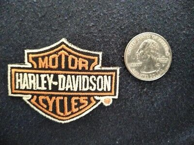 Embroidered Harley Davidson shield patch