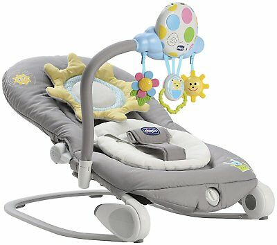 Chicco Balloon Bouncer Dark Grey Adjustable Baby Rocker Chair From Birth