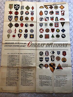 Ww2 Newsmap Large Shoulder Insignia Of US Army 881st Bomb AAF Poster Large 1945