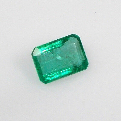 1.56ct Natural Earth mined Zambian Emerald Octagon cut Top Green Good luster gem