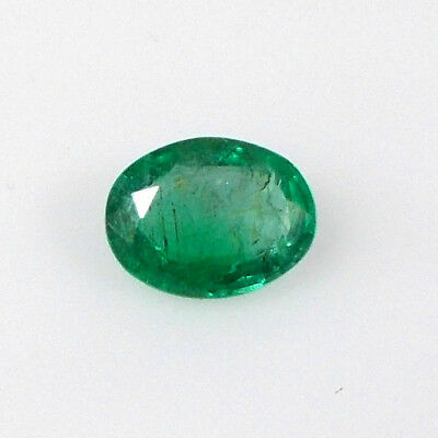 1.37CT Natural Earth Mined Zambian Emerald Oval Top Green Luster unheated Gem