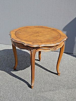 Vintage Baker Furniture French Provincial Style Carved Wood Side Table End Table