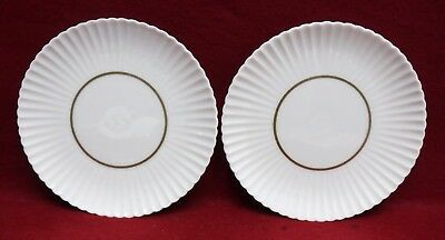 LENOX china RUTLEDGE pattern SAUCER for Cream Soup Set - Set of Two (2) - 7""