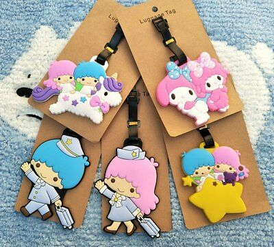 Little twin star Unicorn Anime Luggage Tag PVC Travel Label boarding tags new