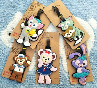 DUFFY BEAR ShellieMay Anime Luggage Tag PVC Travel Label boarding tags new