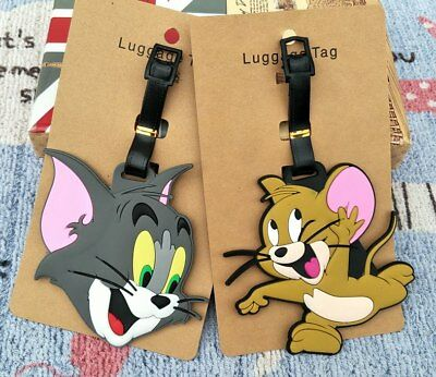 Tom and Jerry Anime Luggage Tag PVC Travel Label boarding tags new
