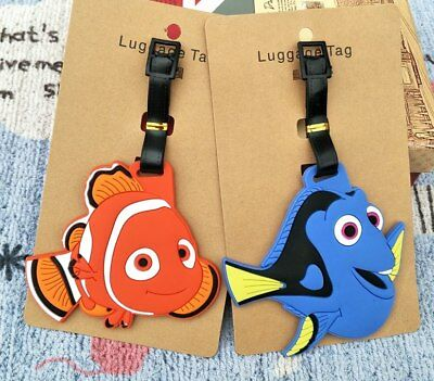 Finding Nemo Anime Luggage Tag PVC Travel Label boarding tags new