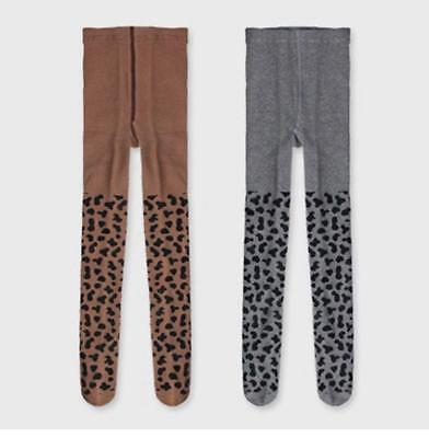 CottonTights Kids Girl Leopard print Tights Girls Infants INS Stockings For 0-8T
