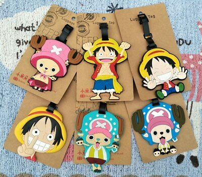 anime Luffy Anime Luggage Tag PVC Travel Label boarding tags new