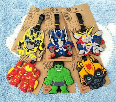 Bumblebee Optimus Anime Luggage Tag PVC Travel Label boarding tags new