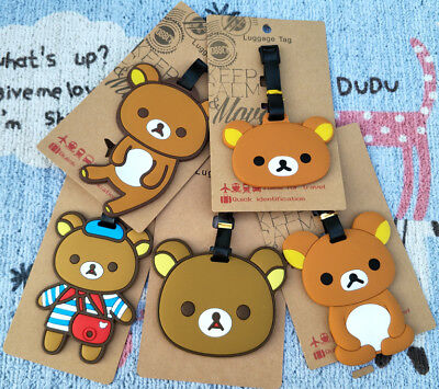Little rilakkuma Anime Luggage Tag PVC Travel Label boarding tags new