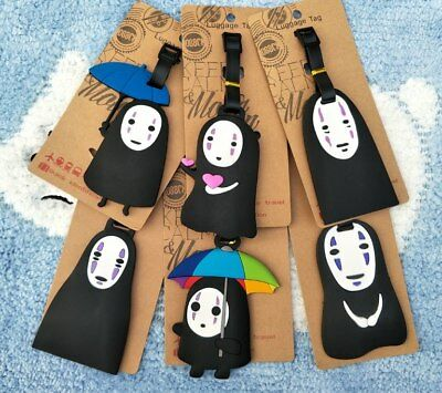 No Face Man Anime Luggage Tag PVC Travel Label boarding tags new