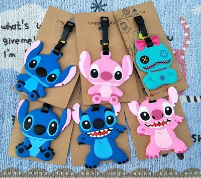 lilo&stitch scrump stitch Anime Luggage Tag PVC Travel Label boarding tags new