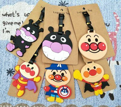 Anpanman baikinman Anime Luggage Tag PVC Travel Label boarding tags new