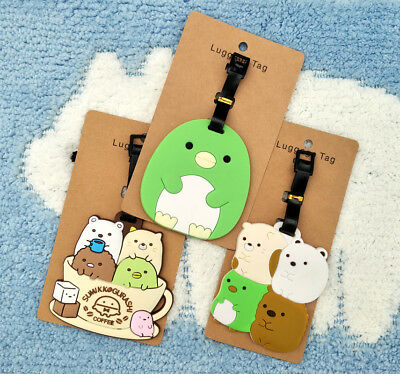 Sumikko gurashi Anime Luggage Tag PVC Travel Label boarding tags new