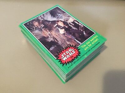 Star Wars - Series 4 (GREEN) - Complete Trading Card Set (66) 1977 - EX/NM
