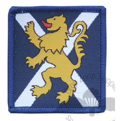 Royal Regiment Of Scotland Rrs Blue-White Trf Hook & Loop Flash Patch