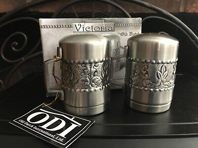 Old Dutch Victoria Stainless Steel Salt and Pepper shakers