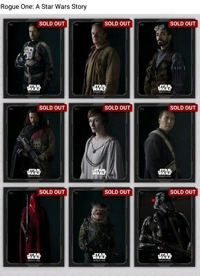 Topps Star Wars Card Trader Rogue One Shadow Portraits Set w/Jyn & Vader Award