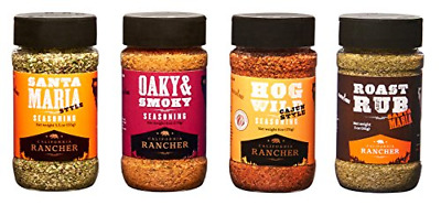 GREAT GIFT! Flavors of California Ultimate Grilling Set by California Rancher, 4