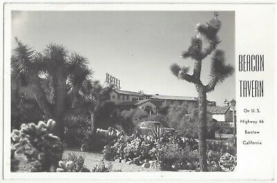 1930s Barstow, California  REAL PHOTO Route 66 Roadside Tavern, Vintage Postcard