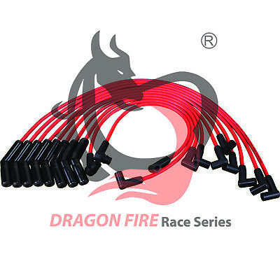Dragon Fire Racing CERAMIC Spark Plug Wire Set For 83-93 Ford 5.0L Truck EEC-IV