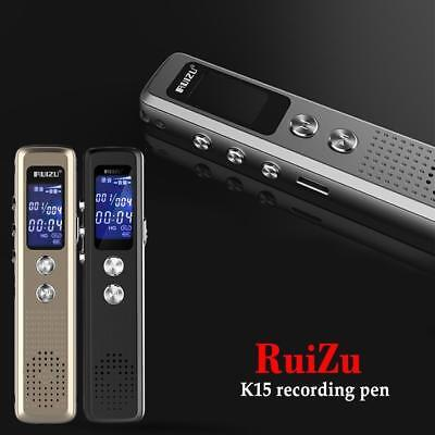 8G Digital Audio Voice Activated Recorder Dictaphone Rechargeable Backlight WN