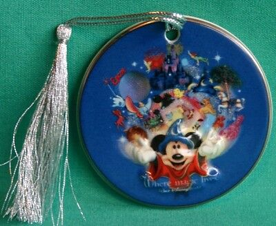 Disney World 4 Parks Icons Mickey Sorcerer Where Magic Lives Christmas Ornament