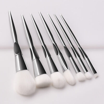 7pcs Pro Makeup Brushes Set Foundation Face Powder Blusher Eyeshadow Lip Brush