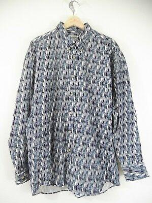 Vintage Mens Munsingwear long sleeve cotton button up dress shirt sz L