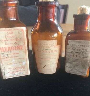 Lot of Antique Apothecary Bottles